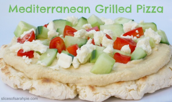 Mediterranean Grilled Pizza- A quick and easy gluten free pizza on the grill