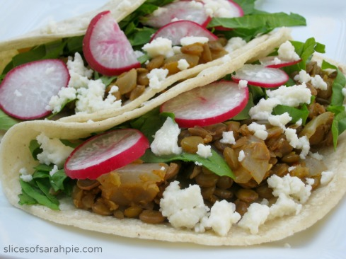 Vegetarian Lentil Tacos- Slices of Sarah Pie 2