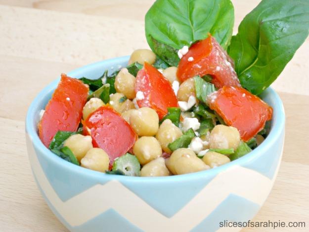 Chickpea Bruschetta Salad
