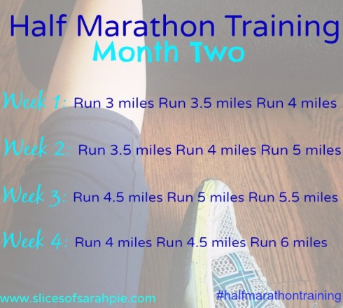 half marathon training month 2